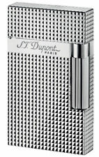 S.T. Dupont Ligne 2, Silver Plated Diamond Head Lighter, ST 016184 New In Box