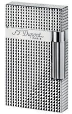 S.T. Dupont Ligne 2 Silver Plated Diamond Head Lighter 16184 (016184) New In Box