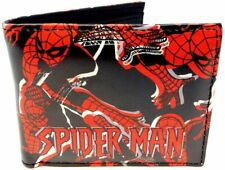 Amazing Spider Man Sublimated Graphic Print PU Faux Leather Men's Bifold Wallet