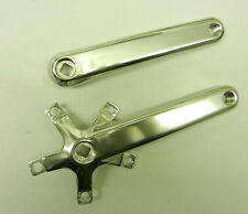 NEW SILVER RPM BRAND ALLOY BICYCLE CRANK ARM SET 170 MM FREE SHIPPING