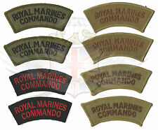 ROYAL MARINES COMMANDO SHOULDER TITLES,DESERT TAN,OLIVE GREEN,BLACK-ARMY SURPLUS