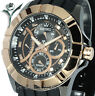 New SEIKO QUARTZ BLACK and ROSE GOLD FACE WITH RUBBER BUCKLE STRAP SRL072P1