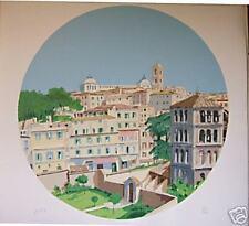 Aldo Riso serigrafia Grande formato 100x100 titolo Roma