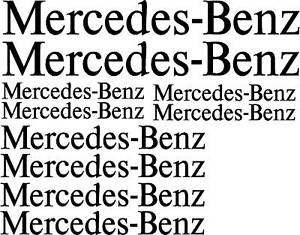 MERCEDES-BENZ decal, graphics, sticker. pack x10 pieces