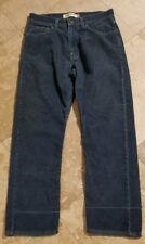 Levis 505 34x30 Corduroy Dark Wash Regular Fit Jeans Red Tab Blue Pants