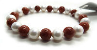 Pearl & Tiger Eye Bead Necklace / Bracelet Set