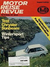 Motor Reise Revue 10 1977 CB Funk Chrysler Sunbeam Fiat 127 Gymkhana