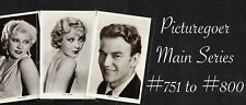 More details for picturegoer - main series 1930s ☆ film star ☆ postcards #751 to #800