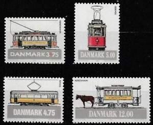 Denemarken postfris 1994 MNH 1080-1083 - Transport / Tram