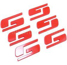 """""""SS"""" Emblem 2003-2006 Chevrolet Silverado SS Door Tailgate Red Custom 3 sets"""