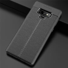For Samsung Galaxy Note 10 Plus 9 8 5 4 Slim Rubber Soft TPU Leather Case Cover