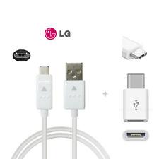 35cm Original LG Micro USB Kabel Ladekabel Datenkabel + USB C 3,1 Adapter G5 G6