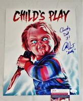 ALEX VINCENT ANDY SIGNED 11X14 METALLIC PHOTO CHILDS PLAY ANDY JSA COA 760