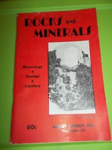 ROCKS AND MINERALS January February 1956 #250 Peter Zodac