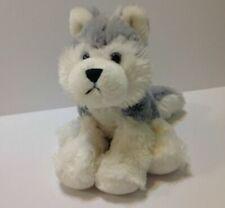 Plush GANZ Wekinz Husky Gray White HM120 Webkinz Toy No Code