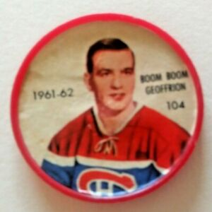1961-62 Shirriff Coin:#104 Boom Boom Geoffrion Montreal Canadiens Hall of Famer