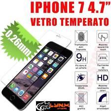 """PELLICOLA IN VETRO TEMPERATO PER IPHONE 7 4.7"""" PROTEZIONE SCHERMO ANTIGRAFFIO"""