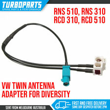 Fakra To Twin Double Diversity Antenna Adapter VW Golf EOS RNS510 RNS310 RCD210