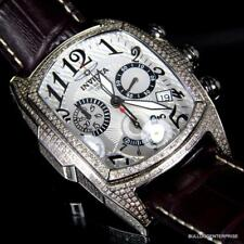 Invicta Dragon Lupah 2.52 CTW Diamonds Chronograph Leather Limited Ed Watch New
