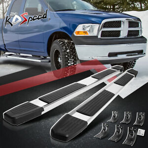 "6"" W (STAINLESS STEEL) Side Step Bar Running Boards for 09-20 Ram Extended Cab"