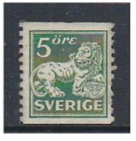 Sweden - 1925, 5 ore Green (Imperf x Perf 10 - No Wmk) - L/M - SG 96A