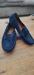Mens Ralph Lauren Navy Suede Driver Loafer Shoes Uk 8/42 reynold