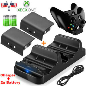 For XBOX ONE Controller Dual Charging Dock Station Charger +Rechargeable Battery