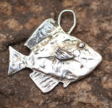 Artisan Surgeon Fish Charm in Sterling Silver