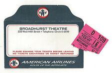 "Inga Swenson ""110 IN THE SHADE"" Lesley Ann Warren 1964 Broadway Ticket Stub"