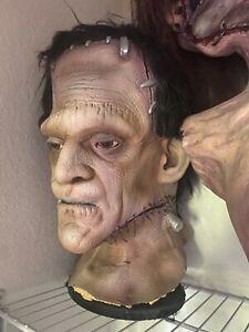 Frankenstein Prop Halloween Spirit Bust Life Size Foam Filled Oversized Gemmy