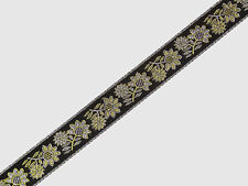 """By The Yard  Jacquard Trim 1.20"""" (3.04 cm) wide Border Ribbon Woven Sew T648"""