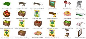 Webkinz game online virtual 30 items FALL FEST APPLE PICKING FARM THEME w/ SEEDS