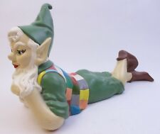 """Vintage A420 Atlantic Mould -Daydreaming """"Gnome"""" -Hand Painted 15"""" Ceramic (A4B)"""