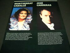 MONTSERRAT CABALLE and JOSE CARRERAS dual music biz PROMO POSTER AD mint cond