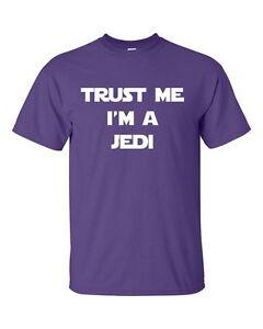 TRUST ME IM A JEDI YODA NINJA FUNNY STAR WARS Mens T-Shirt Purple
