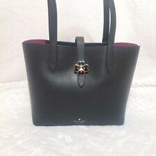 NWT Kate Spade Black Small Tote Handbag With Pink Interior