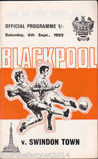 1969/70 BLACKPOOL V SWINDON TOWN 06-09-1969 Division 2