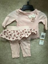 NWT Baby Guess Girl Newborn Infant 0/3 Months 2 Piece Set Shirt w/ tutu leggings