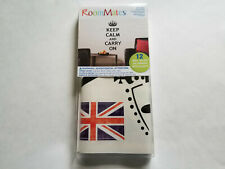 """RoomMates Peel and Stick 12 Wall Decals """"Keep Calm And Carry On"""" Nip"""