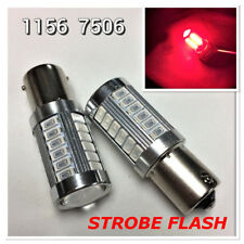 Strobe Brake Light 1156 BA15S 33SMD 180° LED Projector Lens Red Bulb K1 HAK