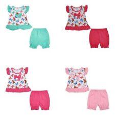 Baby Girls Tenue Set Dungarees /& Top 100/% coton Nouveau-né//3-6//6-9 mois