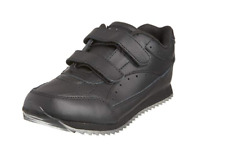 Toughees Childrens Sport Black Velcro Leather School Shoes Kids Trainers Size 2