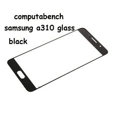Front Outer Screen Glass Lens Part Samsung Galaxy A3 A310F (2016) black