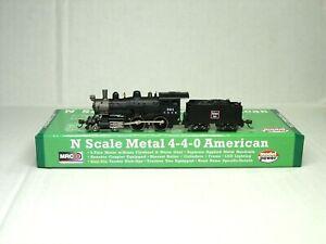MODEL POWER N SCALE METAL 4-4-0 STEAM LOCOMOTIVE CB&Q 87624