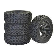 4Pcs RC Rally Car Grain Rubber tires & Wheels for 1:10 1:16 On Road Car Traxxas
