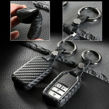 Carbon Fiber Style TPU Soft Smart Key Fob Cover For 2016+ 10th Gen Honda Civic