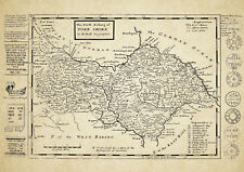 North Riding of Yorkshire County Map by Herman Moll 1724 - Reproduction