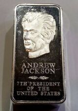 Danbury Mint 1st Edition Andrew Jackson Presidential Series Sterling Silver Bar