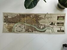 More details for reproduction homann heirs cloth backed folding map 125cm x 38 cm