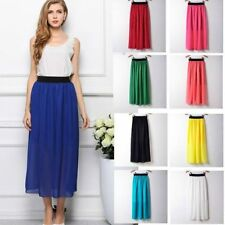 Unbranded Polyester Patternless Maxi Skirts for Women